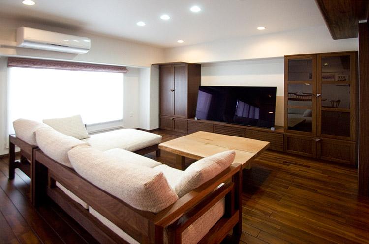 マンションのリフォームの際に製作したオーダー家具