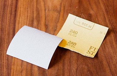 1:紙やすり #180~240を用意します。